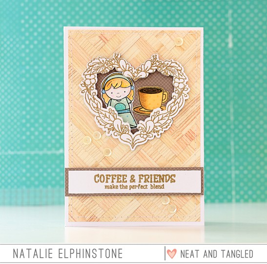 Coffee and friends by natalie elphinstone original