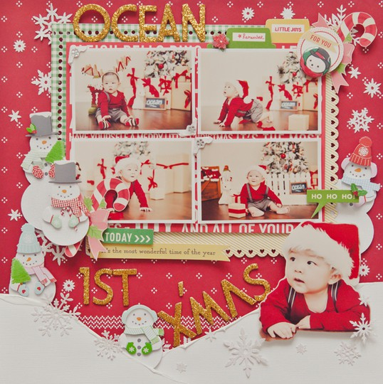 My1st x'mas full layout without frame