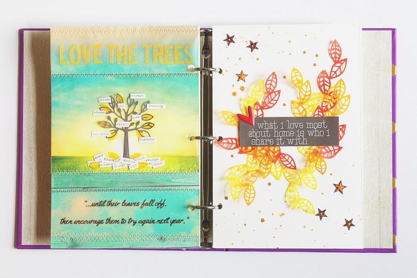 Art journal 12 pine and plum full spread