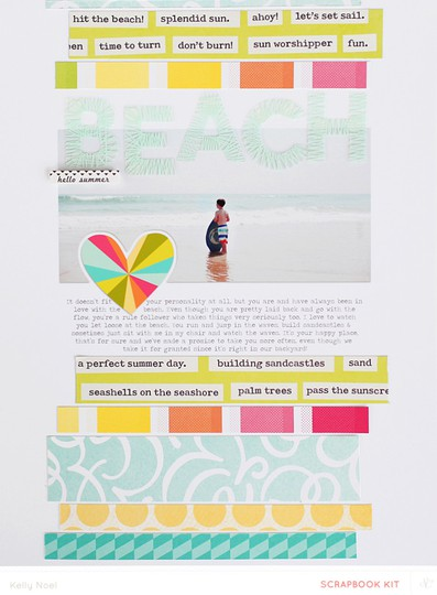 Beach   studio calico hello hello kit   kelly noel