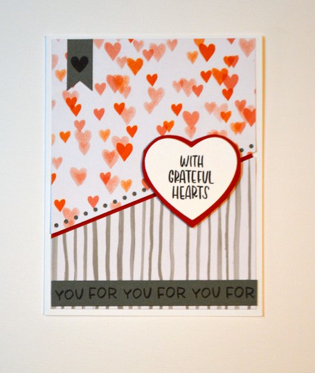Grateful hearts card original