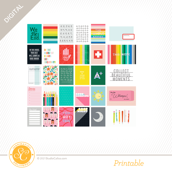 T13316 digital kindred spirits journal cards preview a original