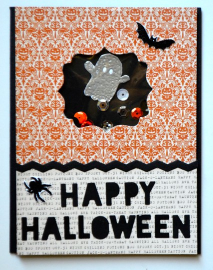 Happy halloween shaker card original