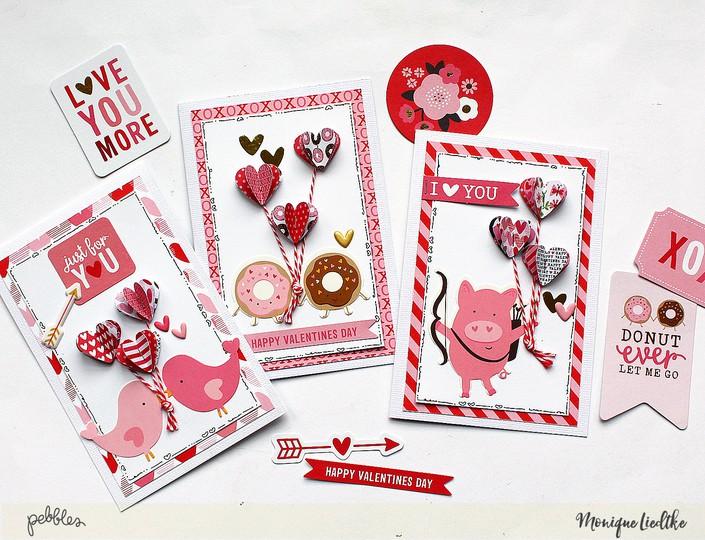 Mliedtke pebbles 3d hearts cards 12 original