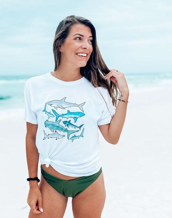 111634 sharksshortsleeveteewhite women slider1 original