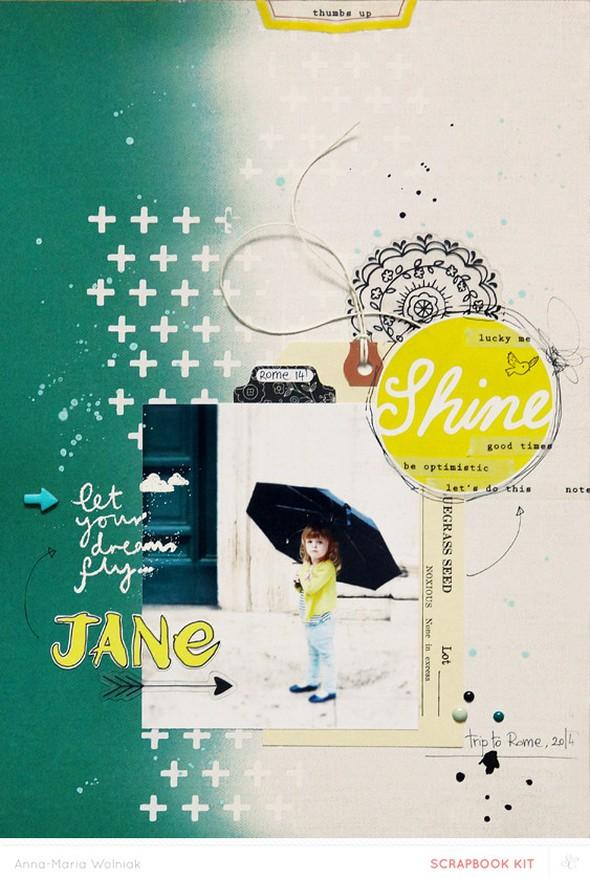 Little jane in the rain