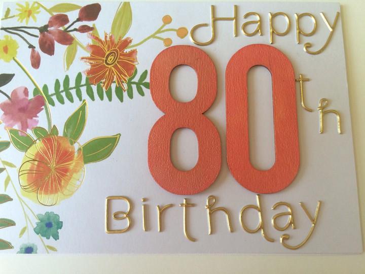 80th birthday card original