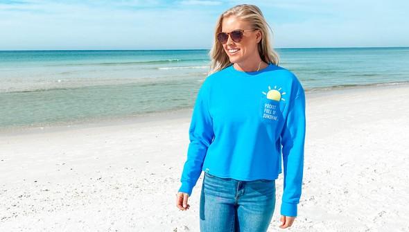 129078 pocket full of sunshine pocket slouch sweatshirt women 30a blue slider1 original