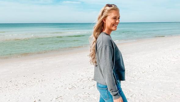 129083 pocket full of sunshine pocket slouch sweatshirt women gray slider4 original