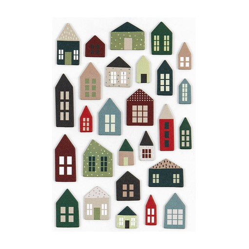 Picture of December Daily® 2021 Chipboard Houses Sheet