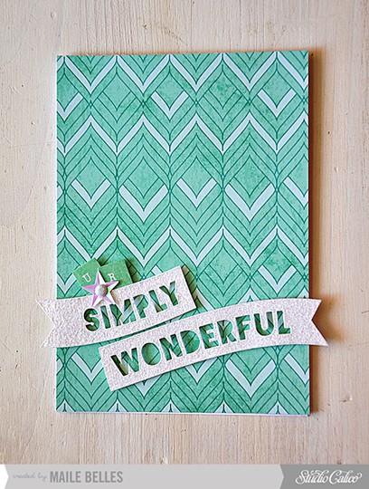 Simply wonderful card (add on 2 4)