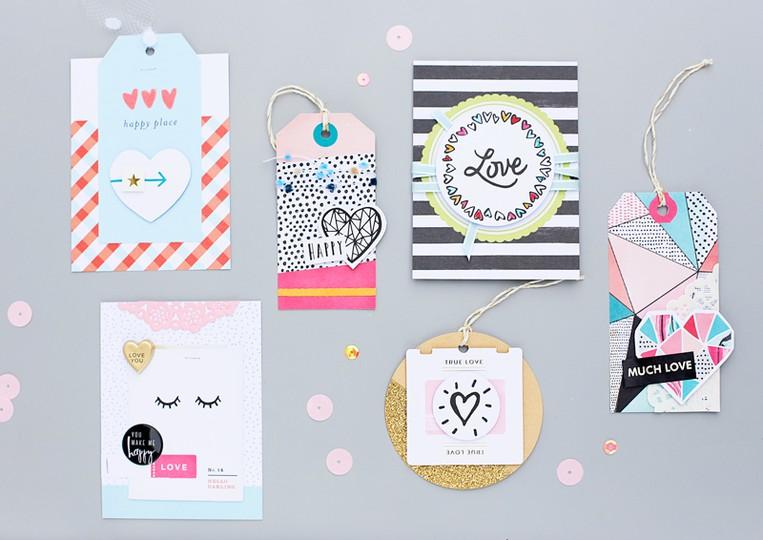 Sandradietrich mojosanti cardmaking card tags gossamerblue januarykit colourful original