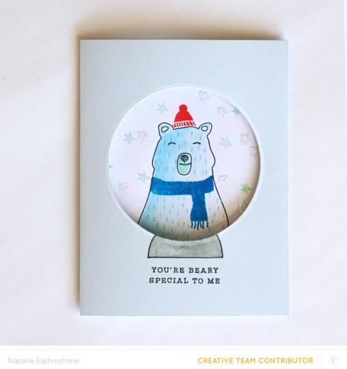 Bear card 1 by natalie elphinstone original