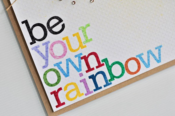 Be your own rainbow closeup