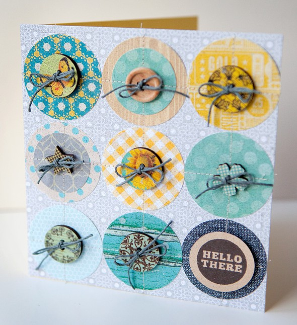 Hello there circles card   susan weinroth