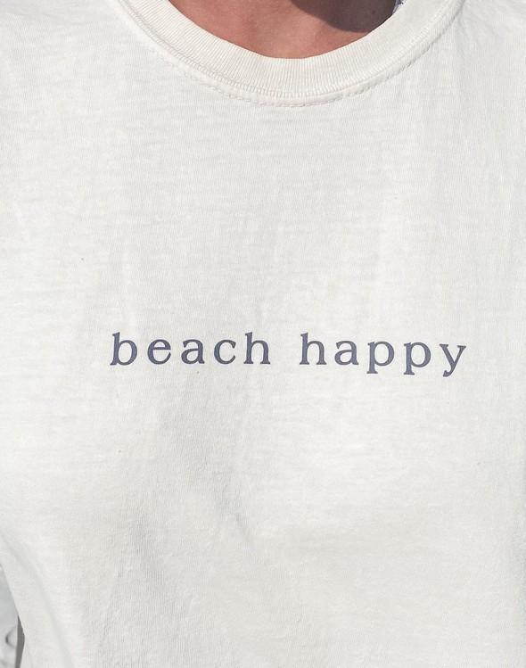 154051 simple beach happy comfort colors short sleeve tee ivory women slider 2 original