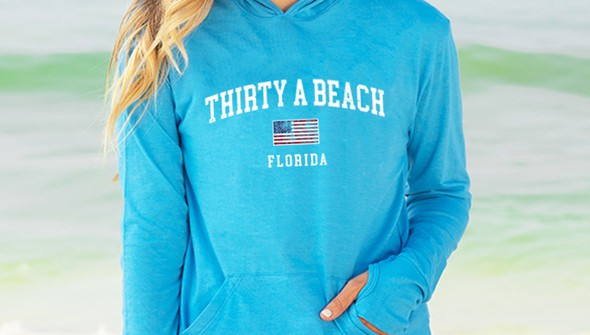 126390 thirtya beach usa pullover hoodie  women  30a blue slider2 original