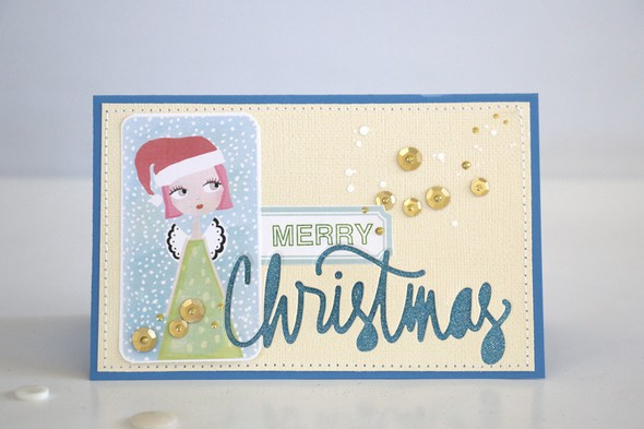 Merry card just angel
