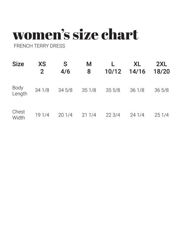 30a women sizechart frenchterrydress vertical original