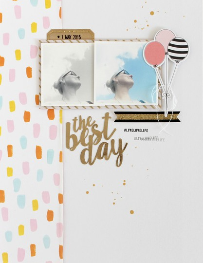 The best day scrapbooking layout evelynlafleur original