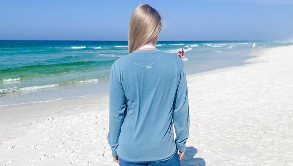 154129 simple beach happy comfort colors long sleeve tee women ice blue slider4 original