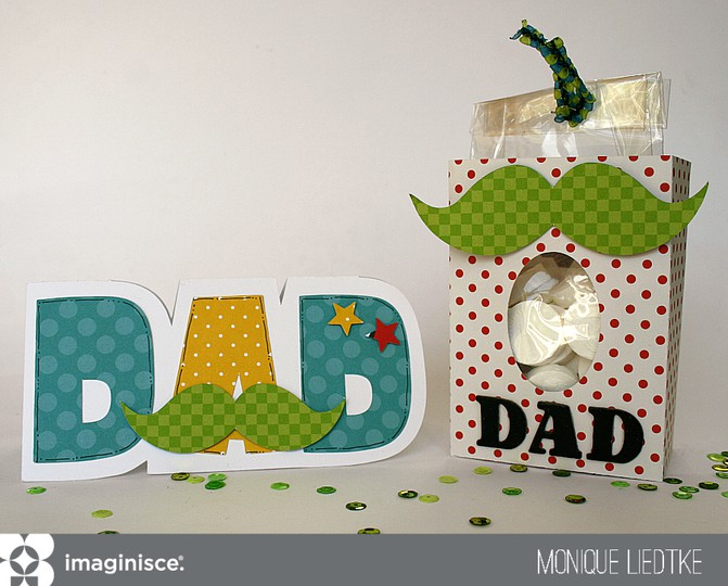 Mliedtke imaginisce dad card and gift bag original