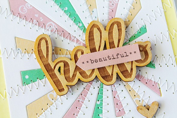 Elles studio hello beautiful card sentiment by carson riutta