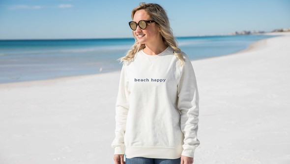 134911 simple beach happy crewneck sweatshirt women cream slider1 original