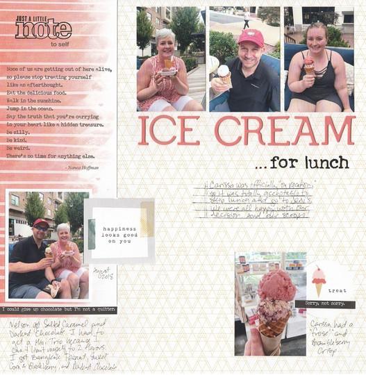 Ice cream for lunch original