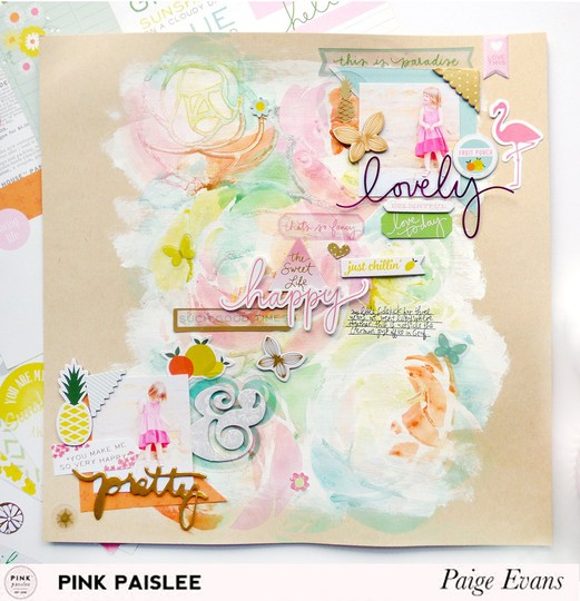 Lovely happy   pretty by paige evans original