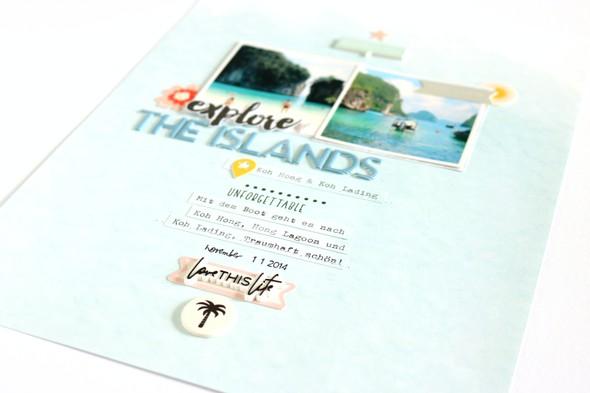 Explore the islands scrapbooking layouts 6 original
