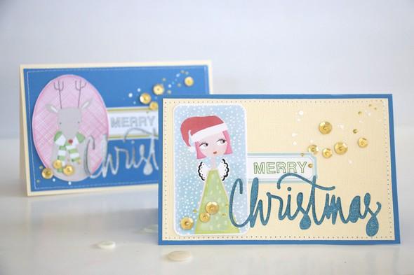 Merry card angel