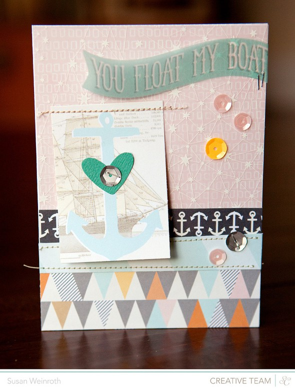 You float my boat card   susan weinroth