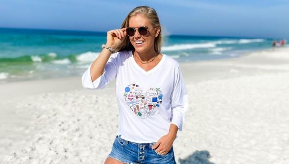 152480 beach love by callie danielle v neck bell sleeve women white slider2 original