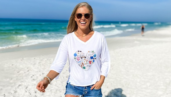 152480 beach love by callie danielle v neck bell sleeve women white slider3 original