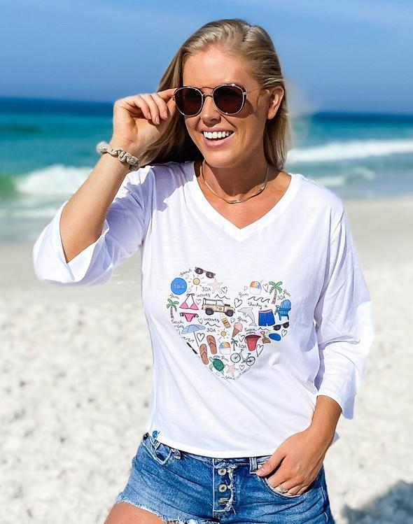 152480 beachlovebycalliedaniellev neckbellsleeveteewhite women slider2 original
