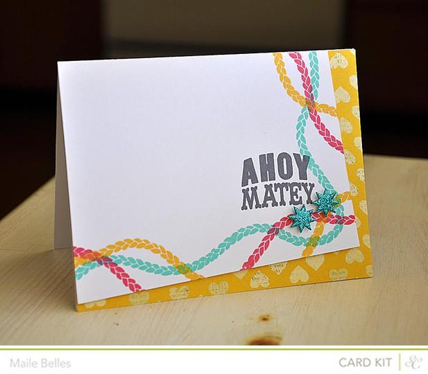 Ahoy matey card (card kit)