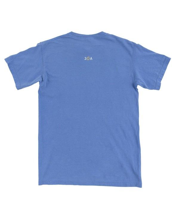 154111 simple beach happy comfort colors short  sleeve tee flo blue women slider 7 original