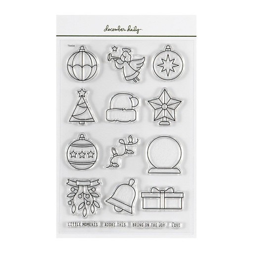 Picture of December Daily® 2021 Bring On The Joy 4x6 Stamp Set