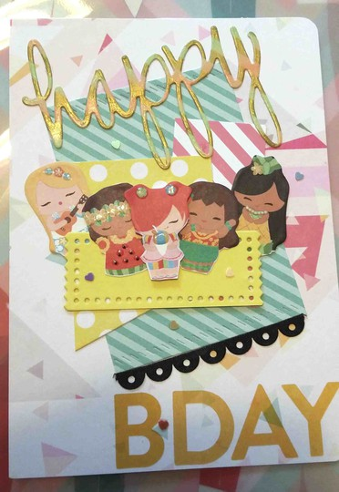 Birthday card girls original