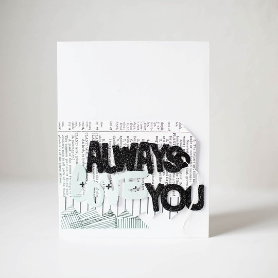 Aw always love you card 1