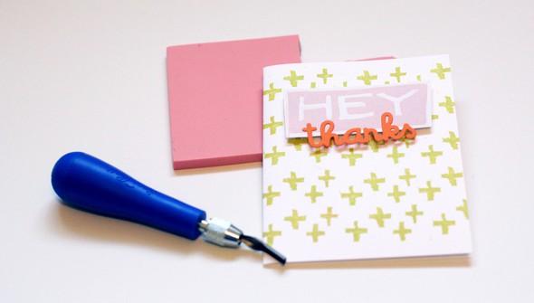 Teaser rubber stamp card original