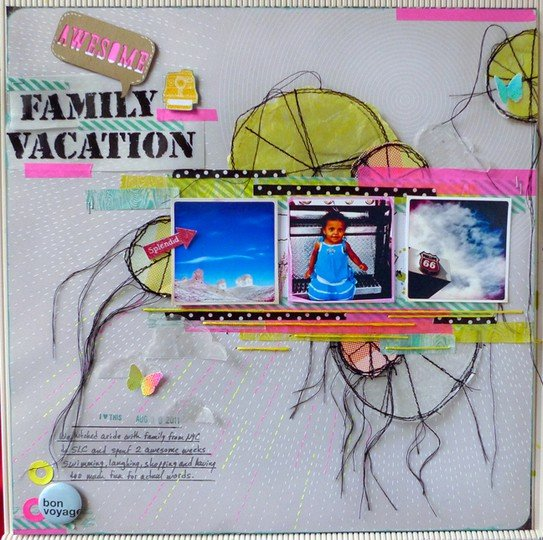 Family washi neon studio calico