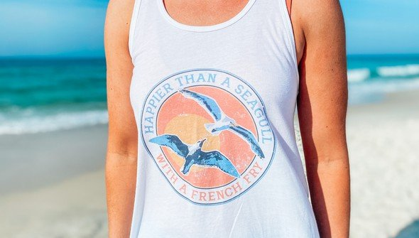 146451 happier than a seagull with a french fry tank top women white slider2 original