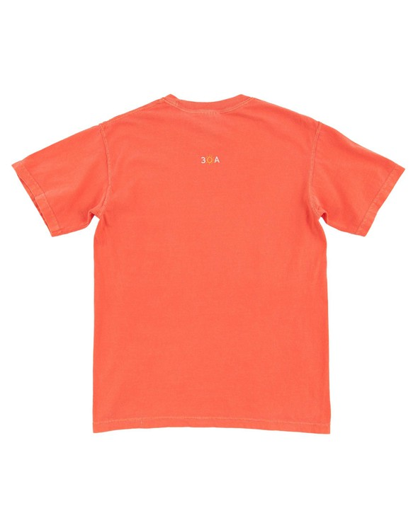 154063 simple beach happy comfort colors short sleeve tee bright salmon women slider 6 original