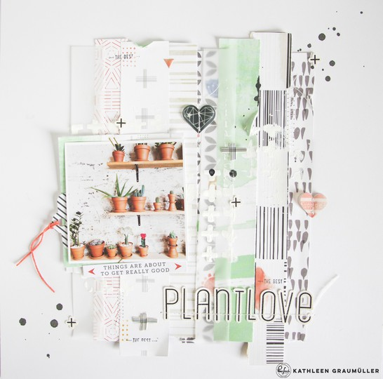 Plantlove scatteredconfetti scrapbooking layout pinkfreshstudio escapetheordinary 1 original