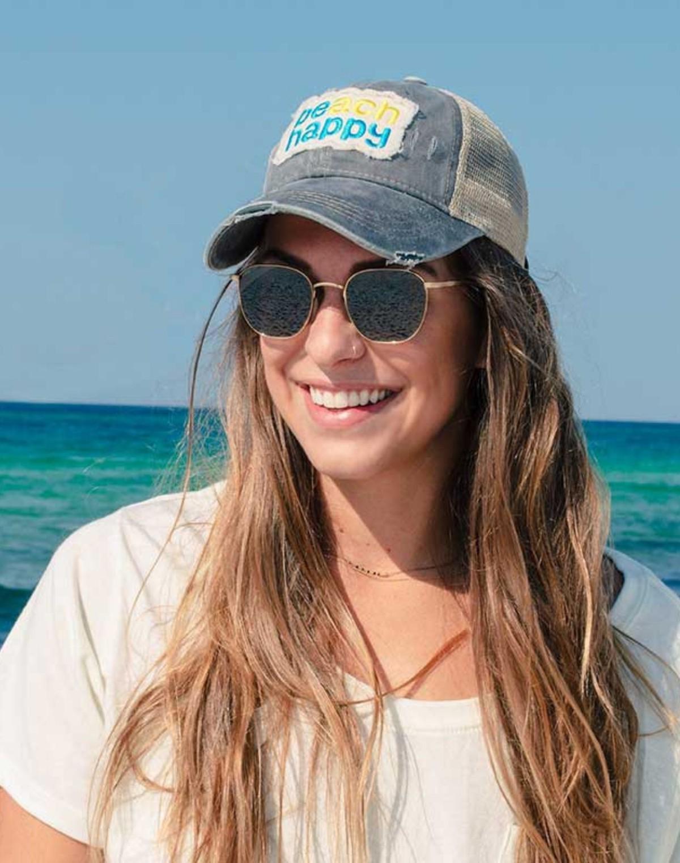 110959 beach happy hat gray women slider 1