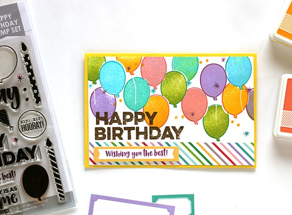 Rainbow balloon card original