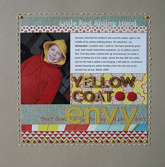 Yellow coat envy