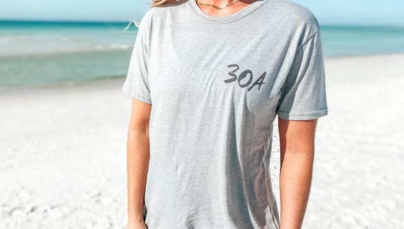 129461 sketched beach short sleeve tee   women   ash slider3 original